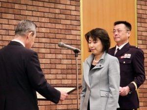 感謝状を受けて頂いた北海道議会議員 大越農子 殿